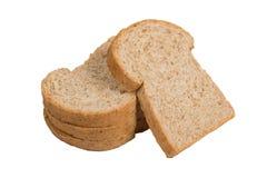 Pain de blé entier de tranche d'isolat Photos libres de droits