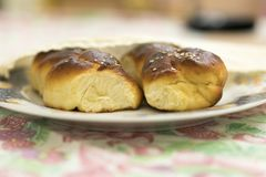 Pain de pain du sabbat Photos stock
