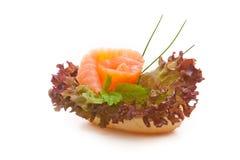 Pain de finition avec des saumons Image stock