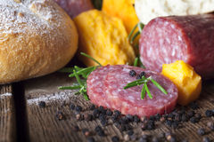 Pain de fromage de salami Photo stock