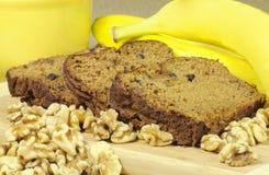 Pain de noix de banane Image libre de droits