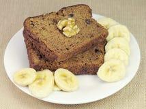 Pain de noix de banane Images libres de droits