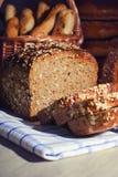 Pain de pain brun. Photo stock