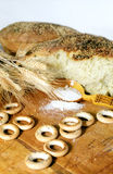 Pain de pain cassé Photos libres de droits