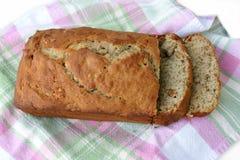 Pain de pain de banane coupé en tranches Image libre de droits
