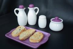 Pain de pain grillé pour le petit déjeuner Photos libres de droits