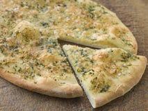 Pain de pizza d'ail Photo libre de droits