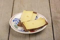 Pain de Rye avec du fromage Photos stock