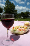 Pain de salade de vin rouge photos stock