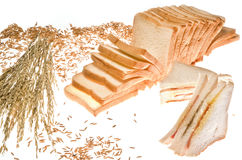 Pain de sandwich à pain et à igname de chine Photos libres de droits