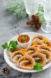 Pain de viande avec le persil, le fromage et les carottes Images libres de droits