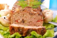 Pain de viande avec les champignons de couche et le paprika photos libres de droits