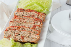 Pain de viande coupé en tranches de dinde Image stock