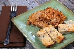 Pain de viande et pommes de terre Image stock