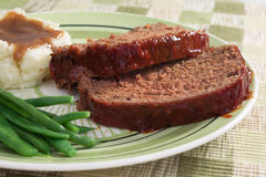 Pain de viande pour le dîner Image stock