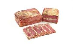 Pain de viande sur un fond blanc photo stock