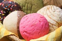 Pain doux mexicain traditionnel utilisé pour le petit déjeuner ou le dîner images stock