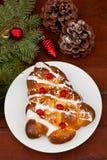 Pain doux roumain traditionnel pour Noël photo libre de droits