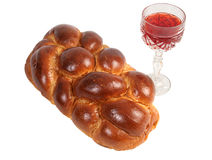 Pain du sabbat et vin Image libre de droits