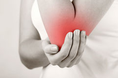 Pain in elbow Stock Photography