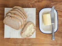 Pain et beurre Photographie stock