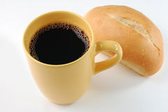 Pain et café Images libres de droits