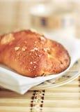 pain et cuvette Frais-cuits au four Image stock