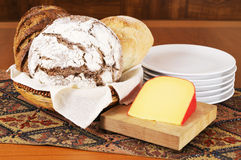 Pain et fromage Image stock