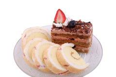 Pain et gâteau photos stock