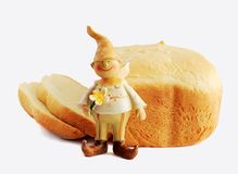 Pain et gnome Photo stock