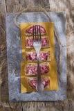 Pain et salami Photos libres de droits