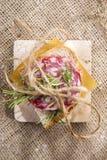 Pain et salami Photographie stock libre de droits
