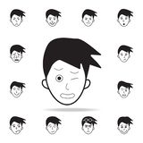 pain on the face icon. Detailed set of facial emotions icons. Premium graphic design. One of the collection icons for websites, vector illustration