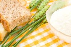 Pain, farine et blé Photo libre de droits