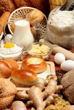 Pain, farine, lait, beurre? images stock