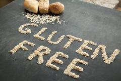 Pain gratuit de gluten pour les personnes qui ont obtenu le régime spécial Photographie stock libre de droits