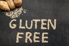 Pain gratuit de gluten pour les personnes qui ont obtenu le régime spécial Photos libres de droits