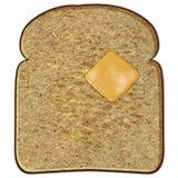 Pain grillé avec du beurre Photographie stock libre de droits