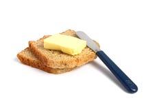 Pain grillé avec du beurre Image libre de droits
