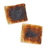 Pain grillé brûlé Image stock