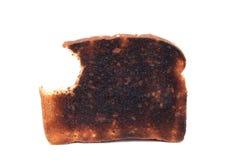 Pain grillé brûlé avec le dégagement image stock