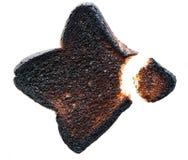 Pain grillé brûlé avec le dégagement photographie stock