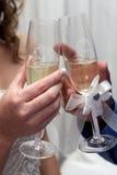 Pain grillé Champagne Photos stock