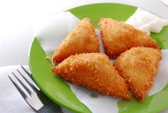 Pain grillé cuit à la friteuse Image stock
