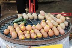 Pain grillé d'oeufs Photo stock