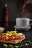 pain grillé d'oeufs Image stock