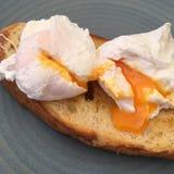 pain grillé d'oeufs Image libre de droits