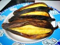 Pain grillé de banane Photos libres de droits