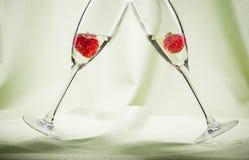 Pain grillé de Champagne Photographie stock