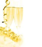 Pain grillé de Champagne pendant des vacances Images stock